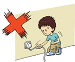 Do not unplug an electrical appliance by pulling its flexible power cord.