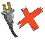 Do not buy or use any electrical appliance which is fitted with a 2-pin plug unless the appliance is fitted with a 2-round-pin plug which complies with safety standard BS4573 or EN50075